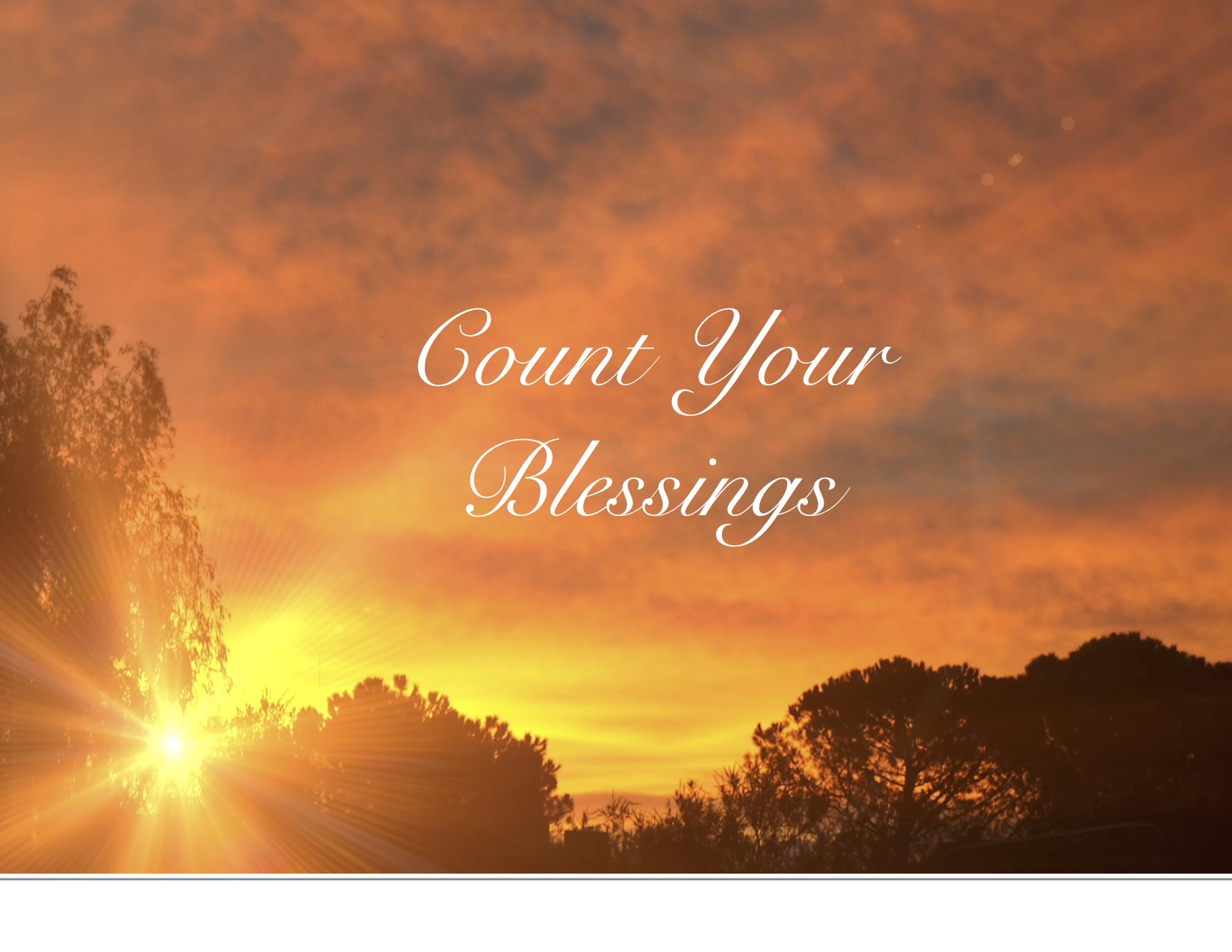 Count Your Blessings – Small Church Connections